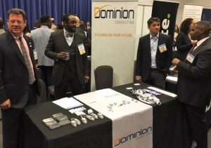 Dominion Consulting's booth at Shared Services Summit