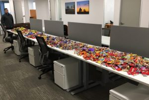 We had a lot of candy to sort through during Dominion's 2016 Halloween Candy Sorting Party for the Mattie Miracle Cancer Foundation