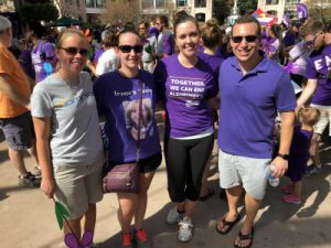 Some of Team Dominion at the 2017 Walk to end Alzheimer's Disease in Reston