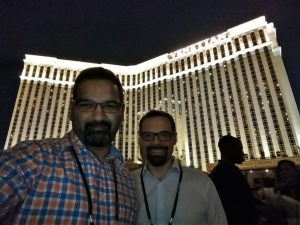 Joe Costellow and Roshan Rao taking a break from Knowledge18 in Las Vegas