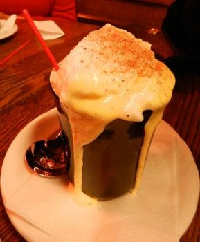 A Tom & Jerry hot eggnog drink as served at Karl Ratzsch's, Milwaukee, WI.